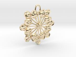 Sun Petals Pendant in 14K Yellow Gold