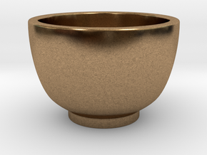Coffee Cup in Natural Brass