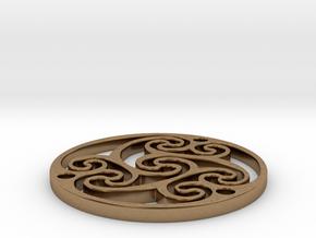 "Celtic Amulet [3.6cm, 1.4""] in Natural Brass"