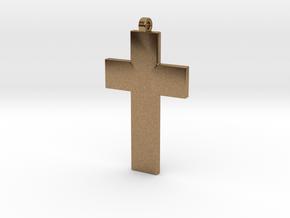 Cross Pendant in Natural Brass