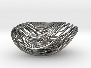 Three Scroll Unified Chaotic System in Fine Detail Polished Silver