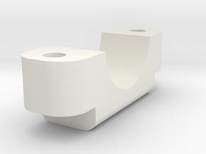TBSMOD Thin Clamp Inner Bottom in White Natural Versatile Plastic