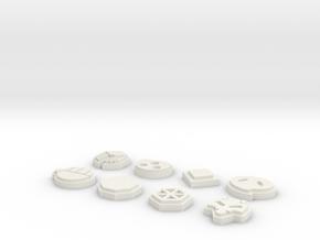 Pokemon Johto League Badges in White Natural Versatile Plastic