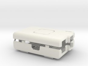 Raspberry Pi CASE 1.0 NO LOGO in White Natural Versatile Plastic