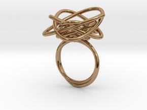 Sprouted Spiral Ring (Size 7) in Polished Brass