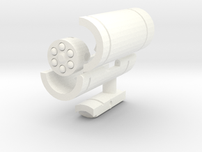 Waves of Sound Weapon - Missile Launcher in White Processed Versatile Plastic