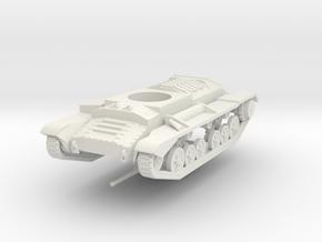 Vehicle- Valentine Tank MkIII (1/72) in White Natural Versatile Plastic
