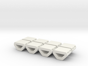 Peggie Engine Insert  Package - Low Detail in White Natural Versatile Plastic