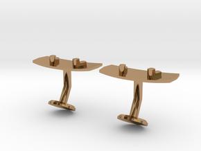 Wakeboard Cufflinks in Polished Brass