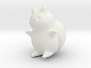 "Catbug - 4"" tall in White Natural Versatile Plastic"