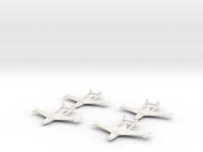 1/300 D.H.112 Sea Venom (x4) in White Natural Versatile Plastic