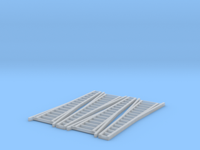N Scale, Four 15' Orchard Ladders in Smooth Fine Detail Plastic