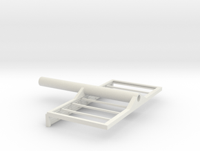 Billboard Frame HO Scale-Pole mounted 03 in White Natural Versatile Plastic