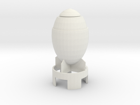 Mini Nuke in White Natural Versatile Plastic
