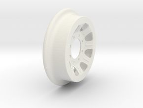Fairmont Speeder or Handcar Wheel 1:8 scale in White Natural Versatile Plastic
