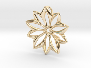 Anemone Pendant in 14K Yellow Gold