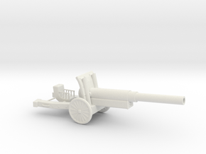 WW2 Cannon (Medium size) in White Strong & Flexible
