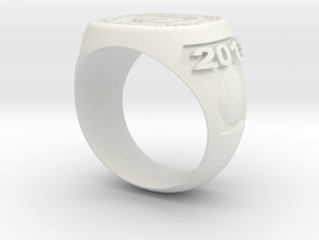 Soccer Ring (Championship) in White Natural Versatile Plastic