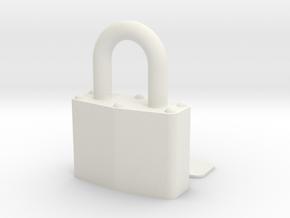 Lock in White Natural Versatile Plastic