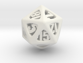 Thoroughly Modern d20 in White Natural Versatile Plastic