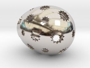 Mosaic Egg #7 in Platinum