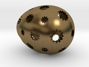 Mosaic Egg #7 in Natural Bronze