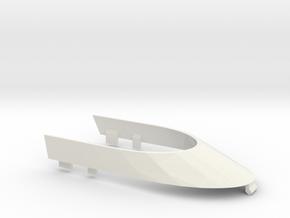 F1 Windshield - scale car in White Natural Versatile Plastic