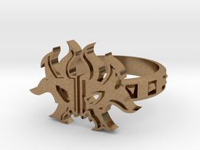 Magic: The Gathering  Rakdos Ring(US Size6) in Natural Brass