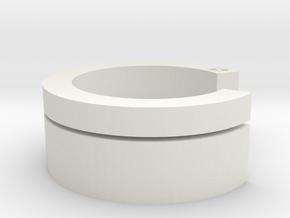 Interlock-ring (small) in White Natural Versatile Plastic