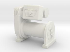 1/10 Scale Warn M8274 Scale Crawler Winch in White Natural Versatile Plastic