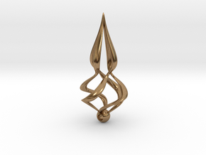 Twisted (Earring or Pendant) in Natural Brass