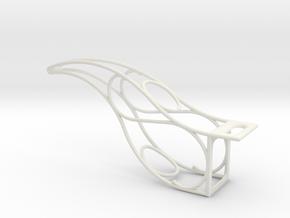 Ski Lift Bracket in White Natural Versatile Plastic