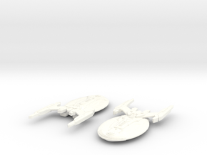 USS Osiris in White Strong & Flexible Polished
