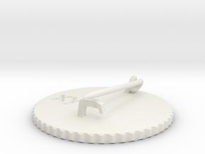 by kelecrea, engraved: xyz in White Natural Versatile Plastic