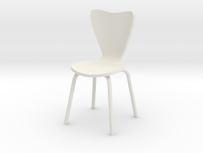 1:24 ModBent Chair (Not Full Size) in White Natural Versatile Plastic