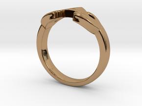 The Legend of Zelda Triforce Ring  in Polished Brass
