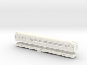 Z Scale Pullman Heavyweight Sleeper Car in White Strong & Flexible Polished