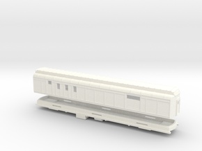 Z Scale Pullman Heavyweight RPO Car in White Strong & Flexible Polished