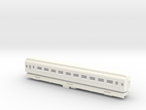 Z Scale Pullman Heavyweight Coach Car in White Processed Versatile Plastic