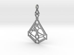 Human-Design 9-Chakra pendant in Raw Silver
