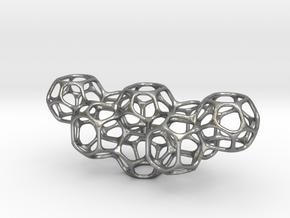 Soap Bubble Pendant II in Natural Silver