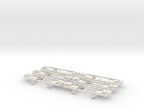 On18/On20 12ft underframe braced journals  in White Natural Versatile Plastic