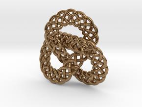 Celtic Knot Trefoil Pendant in Natural Brass