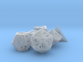 Thoroughly Modern Dice Set in Smooth Fine Detail Plastic