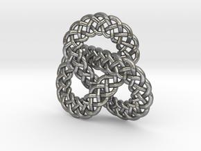 Celtic Knot Trefoil Pendant in Natural Silver