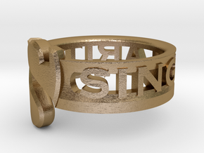 SU2013 Ringsize5 in Polished Gold Steel