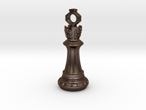 Chess King Pendant in Polished Bronze Steel