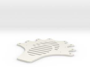Facehugger body plate. in White Natural Versatile Plastic