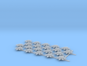 20 Mechanical 8-pointed stars in Smooth Fine Detail Plastic