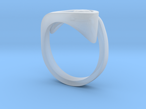 Ultra modern curve ring in Smooth Fine Detail Plastic